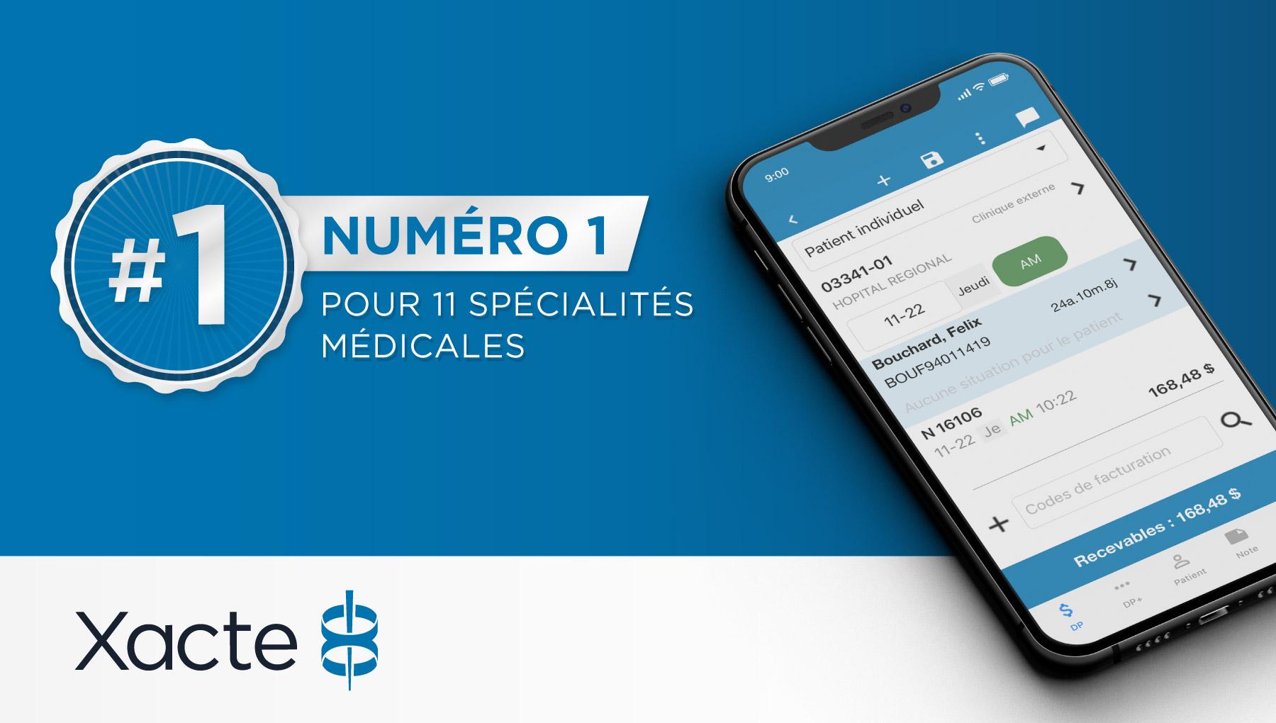 Solution de facturation RAMQ #1 spécialités médicales